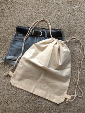Borsa di tela bianco sporco-crema