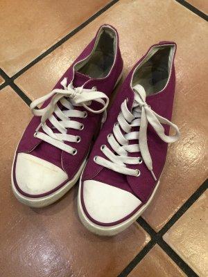 Stoff Schuhe weiß lila, Gr. 40, Kaufland