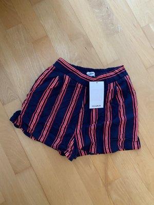 Pull & Bear Pantalón corto de talle alto multicolor tejido mezclado