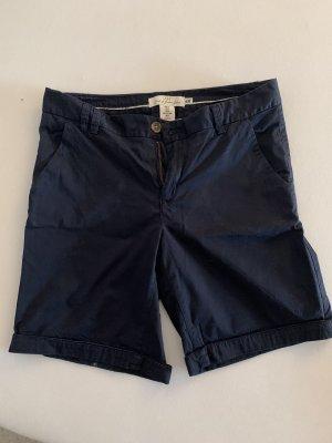 Stoff Shorts Marineblau