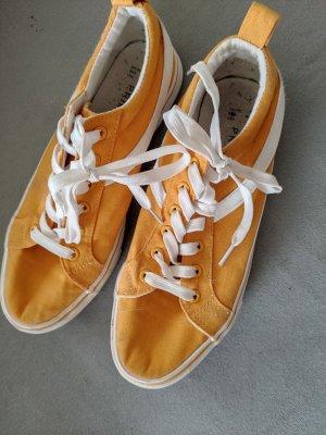 Stoff Sneaker Senfgelb 40