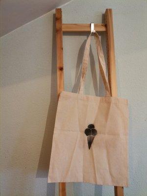 selfmade Stoffen tas zwart-wolwit