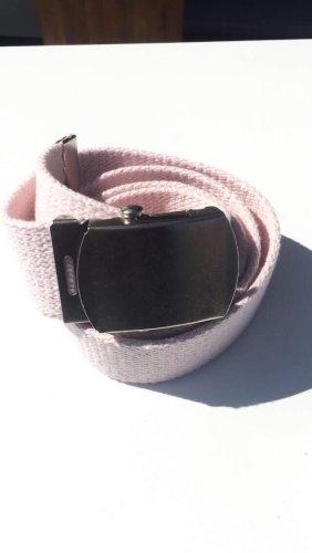 Pasek z materiału jasny różowy