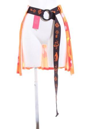 Cinturón de tela estampado con diseño abstracto estilo extravagante