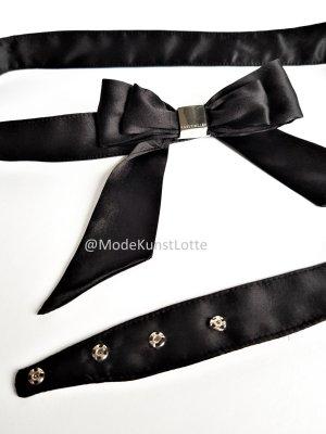 KAREN MILLEN Fabric Belt black silk