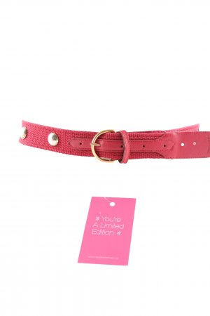 Stoffen riem donkerrood casual uitstraling