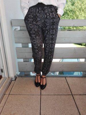 Apricot Jersey Pants black-white polyester