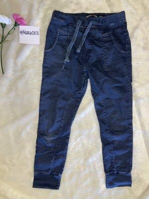 Luźne spodnie szary niebieski