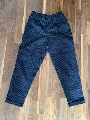 Pull & Bear Jersey Pants dark blue-white