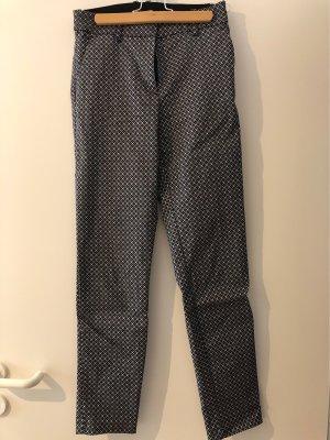 H&M Spodnie materiałowe biały-czarny