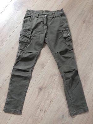 no name Pantalon cargo gris vert