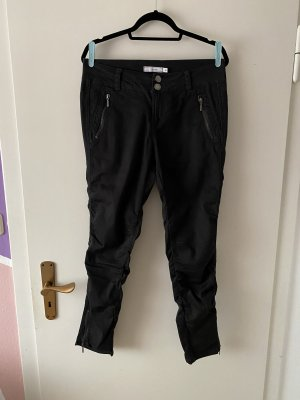 Fransa Pantalon en jersey noir-argenté