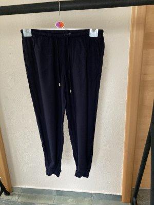 H&M Pantalon en lin bleu foncé