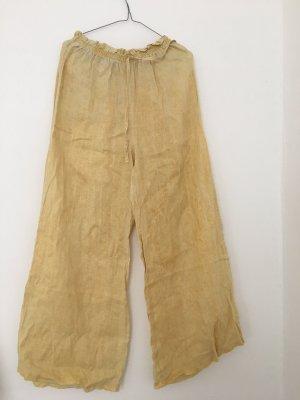 Vintage Bojówki jasnożółty-bladożółty