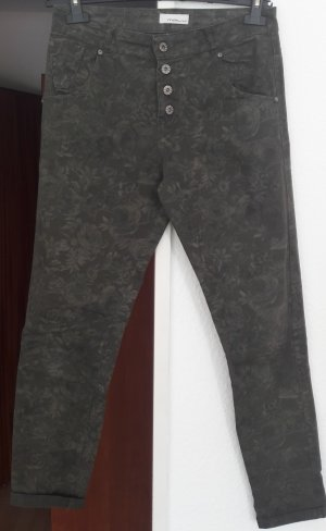 MALU Pantalon kaki multicolore