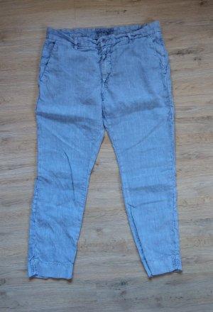 Closed Lniane spodnie stalowy niebieski