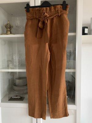 Stoffhose braun Paperbag Style, von Zara, Gr. S