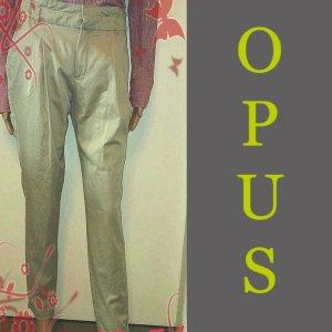Opus Chinos oatmeal-cream mixture fibre