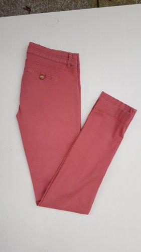 Stoffhose Chino rosa