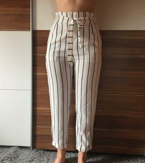 Bershka Jersey Pants white-black