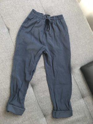 Mango Pantalon chinos bleu foncé