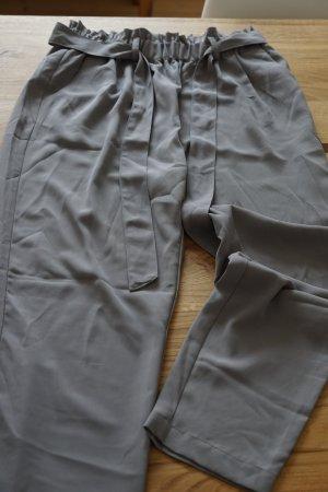 Bikbok Stoffen broek zilver Polyester