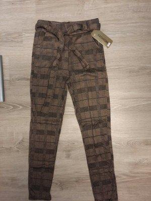 100% Fashion Pantalon en jersey brun polyester