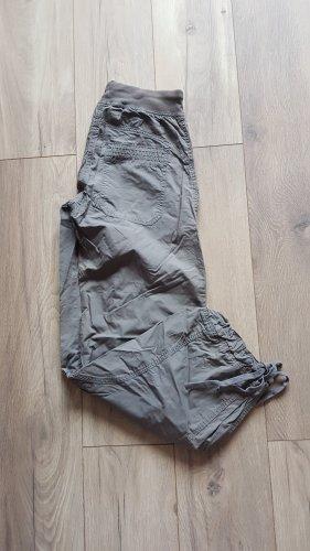 H&M Spodnie materiałowe zielono-szary