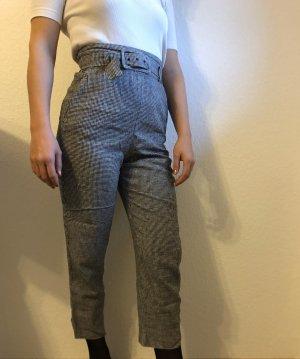Zara Hoge taille broek zwart-wit