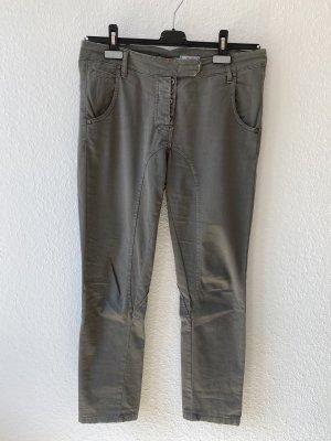 Please Pantalon en jersey gris vert-kaki