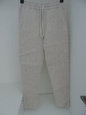 Zara Basic Pantalone di lino multicolore