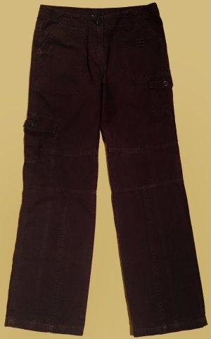 Stoffhose, lang, low waist, Gr. 38