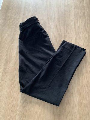 Stoffhose mit Bindegürtel Schwarz Größe 38