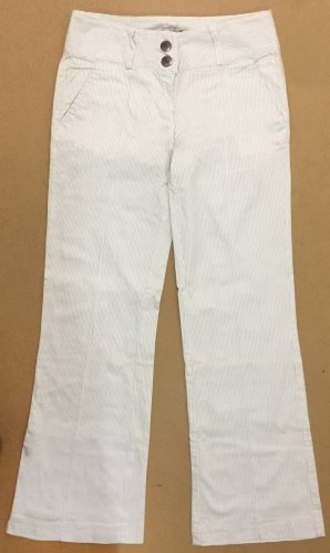Stoffhose mit Bügelfalte, gestreift, lang, low waist, Gr. 36