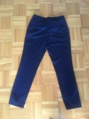 H&M Premium Pleated Trousers dark blue