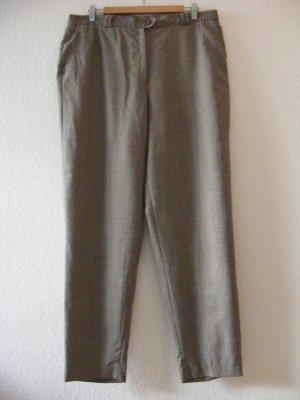 Delmod Wełniane spodnie szaro-brązowy