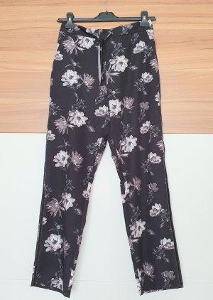 BAF Spodnie materiałowe biały-szaro-fioletowy