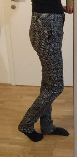 Stoffhose mit Muster (schwarz/weiß)