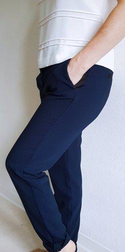 Camaieu Spodnie garniturowe czarny-ciemnoniebieski