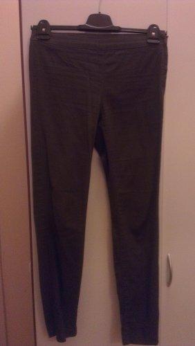 H&M Stretch Trousers dark green cotton