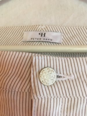 Peter Hahn Pantalon en velours côtelé crème-beige