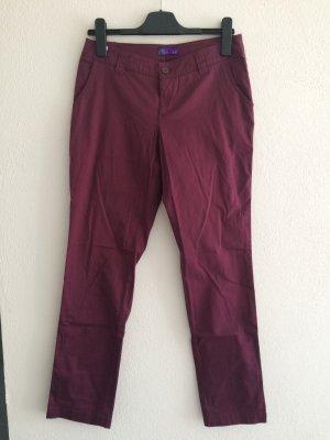 AJC Spodnie materiałowe purpurowy Bawełna