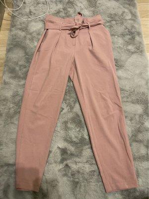 Only Spodnie materiałowe w kolorze różowego złota-stary róż