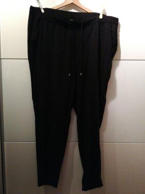 Stoffhose schlicht schwarz Oversized