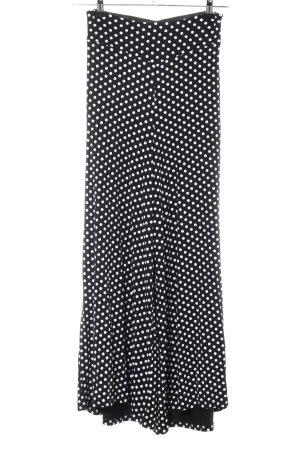 Hot Dog Stoffhose schwarz-weiß Allover-Druck Casual-Look