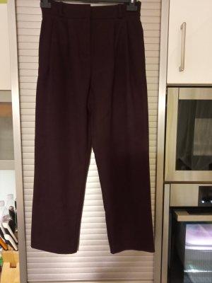 Hallhuber Pantalón de pinza violeta amarronado Poliéster