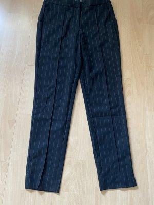 Mango Stoffen broek zwart-wit