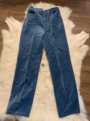 & other stories Pantalon taille haute bleuet coton