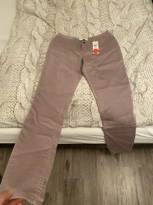 Pieces Peg Top Trousers mauve-grey lilac