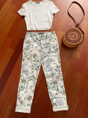 Zara Pantalon en jersey multicolore